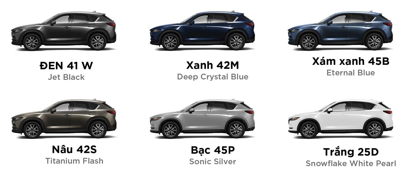 Màu sắc Mazda CX-5 2018